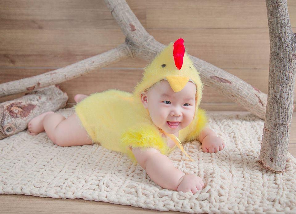 Chụp ảnh cho bé giá rẻ tại Donald studio - gà con dễ thương