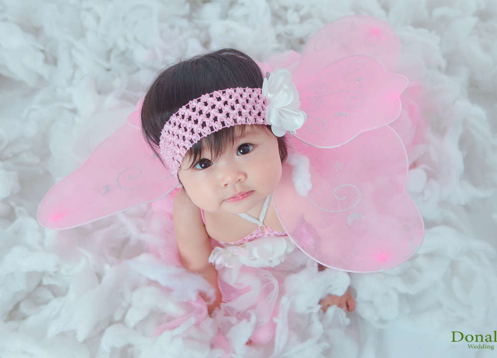 Bướm hồng dễ thương - chụp ảnh cho bé chuyên nghiệp