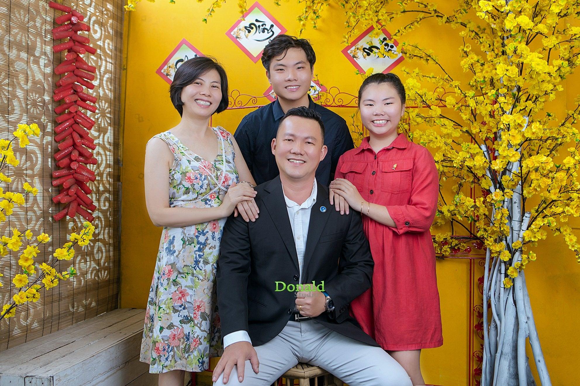 Chụp ảnh tết gia đình tại hcm