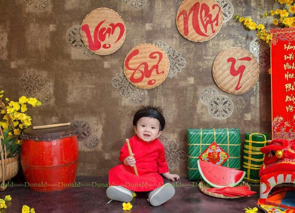 Chụp hình tết cho bé tại HCM